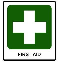 First Aid sign vector image