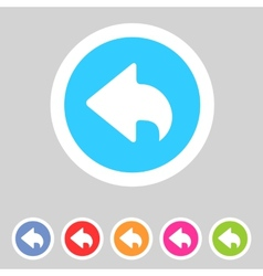 Flat game graphics icon back vector