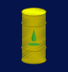 Flat shading style icon barrel of oil vector