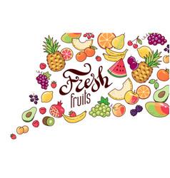 fruits tornado vector image
