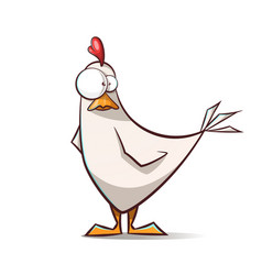 funny cute cartoon hen characters vector image