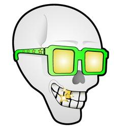 Funny skull face vector