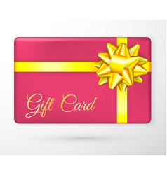 gift vouchers with bow gold yellow ribbons vector image