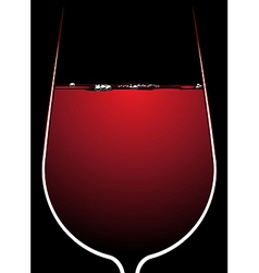 Glass of red wine with backlighting vector image