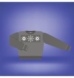 Gray Wool Sweater vector