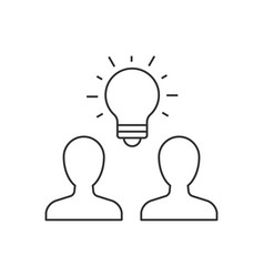 group people brainstorming outline icon vector image