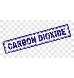 Grunge carbon dioxide rectangle stamp vector