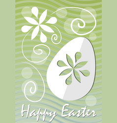 Happy easter fine green wavy background with vector