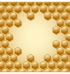 Honeycomb background vector