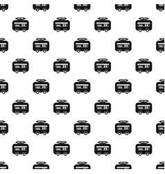 hot dog shop trailer pattern seamless vector image
