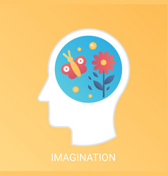 imagination concept modern gradient flat vector image