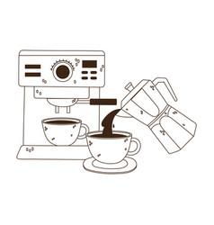 International day coffee machine cup vector