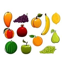 Isolated healthy organic sweet fruits set vector image