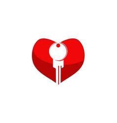 key love vector image