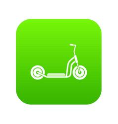 kick scooter icon digital green vector image
