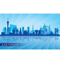 Las Vegas city skyline silhouette background vector