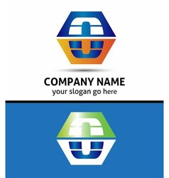 Letter L logo icon template elements vector image