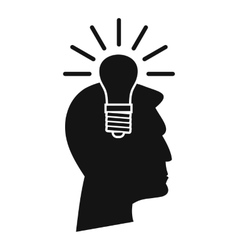 Light bulb idea icon simple style vector