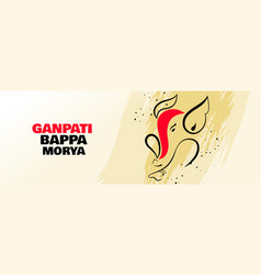 lord ganesha creative design banner for ganesh vector image