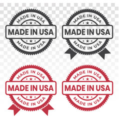 Made in usa badge flat icon for industrial vector