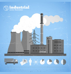 Manufacturing plant background vector