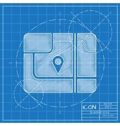Map icon Eps10 vector