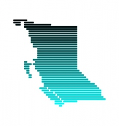 map of British Columbia vector image