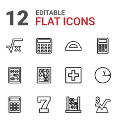 math icons vector image