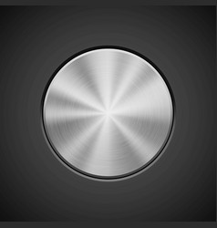 Metallic circle badge vector