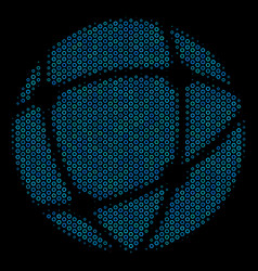 network collage icon of halftone circles vector image