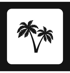 Palms icon simple style vector