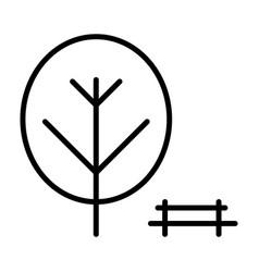 Park line icon simple minimal 96x96 pictogram vector