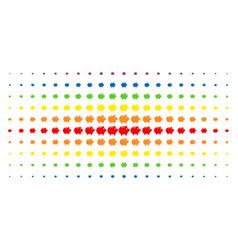 Piggy bank spectral halftone grid vector