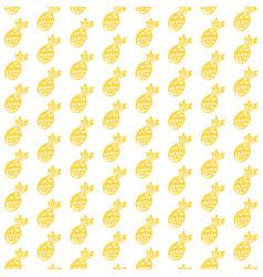 pineapple fruit brush seamless pattern vector image