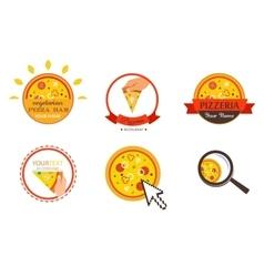 Pizzeria Restaurant Shop Design Element for vector image