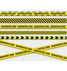 Quarantine zone warning tape novel coronavirus vector