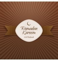 Ramadan kareem eid mubarak festive banner vector
