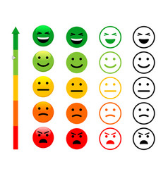ranking scale faces vector image