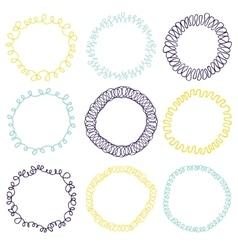 Set of decorative circle frames vector
