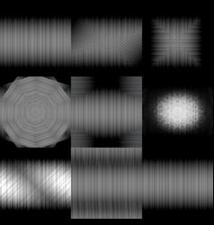 set of gradient backgrounds grayscale dark 3d vector image
