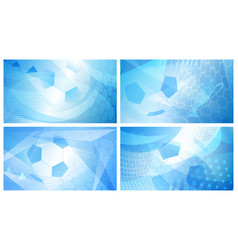Soccer backgrounds in light blue colors vector