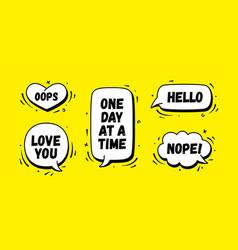 speech bubble set chat message vector image