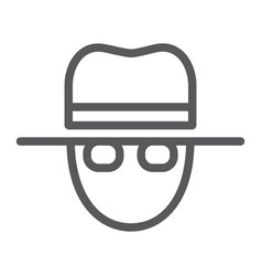 spy line icon private and detective agent sign vector image