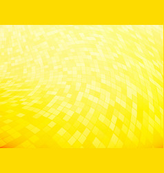 Squares tiled yellow curved pattern vector