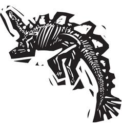 Stegosaurus fossil vector
