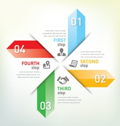 Step infographic vector