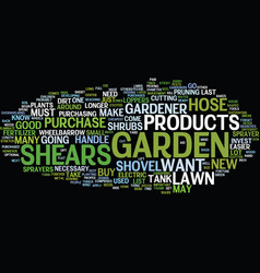 The must have list of lawn and garden products vector