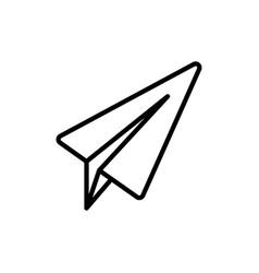 Thin line telegram plane icon vector