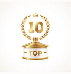 Top 10 award cup golden award trophy vector