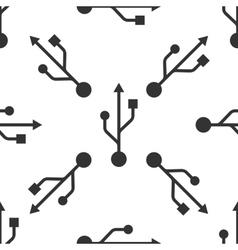 USB symbol icon pattern vector image
